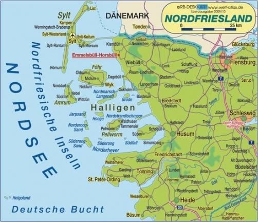 Karte Nordfriesland geschützt